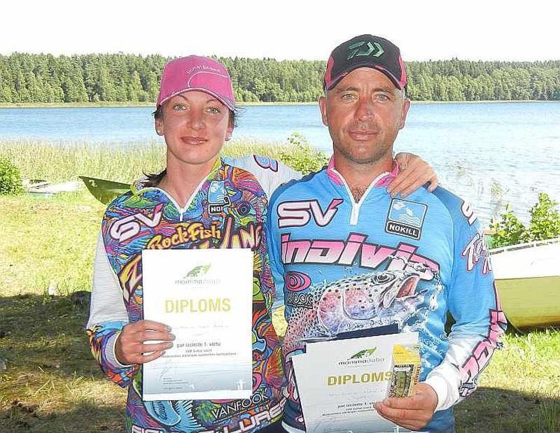 Pēdējo trīs posmu uzvarētāji Kristīne Āboltiņa un Māris Kārkliņš.