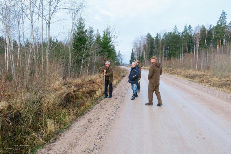 Foto no nelaimes gadījuma vietas Laidzē.